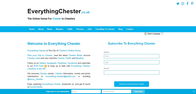Chester Cheshire Northwest England North Wales UK