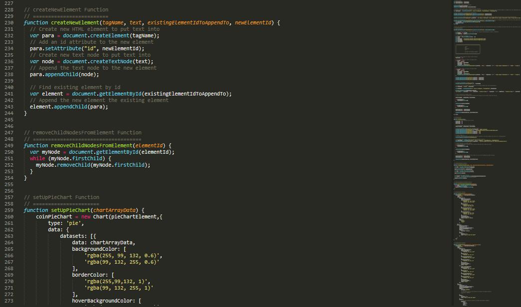 Javascript Code Screenshot Christopher John Roberts
