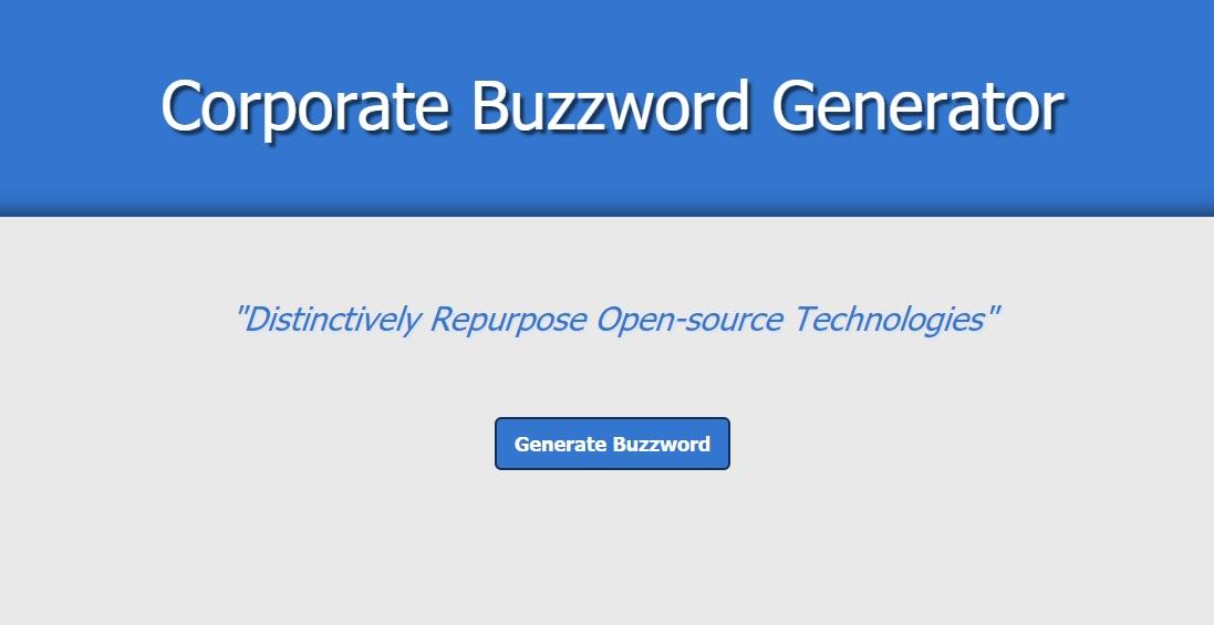 Corporate Buzzword Generator